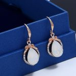 2018 Fashion Women Crystal Engagement <b>Jewelry</b> Sets Rose Gold Inlay Opal Necklace Earrings Set Italy Bridal <b>Jewelry</b> <b>Accessories</b>