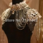 Bride Beads Lace Bridal Chain Tassel Shoulder Strap <b>Jewelry</b> Crystal <b>Accessories</b> Jewellery Wedding Necklace Jewerly Sets