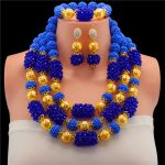 Romantic Nigerian Wedding African Beads <b>Jewelry</b> Sets Crystal Necklace Sets Gold-color <b>Jewelry</b> Set Wedding <b>Accessories</b> Party