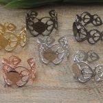 100pcs 8mm Pad ring blank Cameo Tray,<b>Antique</b> Bronze/Gold/Silver Ring setting,Handmade DIY Zakka <b>jewelry</b> Finding
