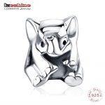 LZESHINE Silver Lucky Elephant Charm Animal Beads Fit Original Charm Bracelet <b>Antique</b> 925 Sterling Silver Fine <b>Jewelry</b> PSMB0805