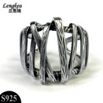 Male rings 925 silver rings <b>Antique</b> knitted silver original design accessories men's rings opening men <b>jewelry</b> free shipping