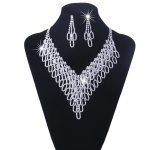 YFJEWE Austrian Crystal Bridal <b>Jewelry</b> Sets For Women Wedding Long Tassel Statement Necklace/Earrings Set Dress <b>Accessories</b> N119