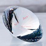 Feng Shui 150mm Transparent Crystal Diamond Big Stone <b>Jewelry</b> Home Decoration