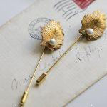<b>Antique</b> Gold Leaf Brooch <b>Jewelry</b> Retro Style Imitation Pearl Pin Brooch Men & Women Custom Accessories