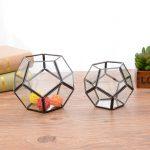 <b>Jewelry</b> Storage Box Nordic Minimalist Decorative Geometric Polygon Glass Greenhouse Handicraft <b>Jewelry</b> <b>Antique</b> Storage Box