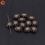 Cordial Design 20x16mm 400pcs/lot (Design As Shown) Black With <b>Antique</b> Acrylic Oval Flower Shape Beads For <b>Jewelry</b> Making