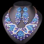 Fashion Bridal <b>Jewelry</b> Sets Wedding Necklace Earring For Brides Party <b>Accessories</b> Gold Color Crystal Jewellery Gift For Women