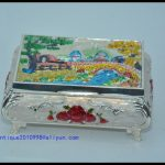 <b>Antique</b> old Chinese silver&Cloisonne <b>Jewelry</b> box,Collection&Adornment,Free shipping