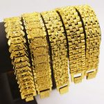 Mens <b>Jewelry</b> Hip Hop Style Solid Yellow Gold Filled Mens Bracelet Wrist Chain Link 8.3 Inches Fashion <b>Accessories</b> Gift