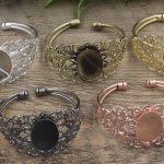 10pcs/Lot Cabochon 18*25mm Pad Antique Bronze/Gold/Silver/Black Bracelet Vintage Bangle <b>Jewelry</b> <b>Accessories</b>