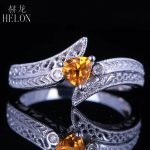 HELON Solid 10K White Gold Vintage <b>Art</b> <b>Deco</b> <b>Jewelry</b> 4.5×4.5mm Trillion Cut Natural Diamond Gemstone Engagement Wedding Fine Ring