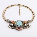 New Arrival Flower Charm Marquise Fashion <b>Antique</b> Gold Color Transparent/Color Resin Pendant Necklaces For Women Fashion <b>Jewelry</b>