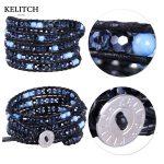 KELITCH <b>Jewelry</b> 1Pcs AB Crystal Beads Wrap Chain Women 5 Wrap Strand Handmade Bracelet Multilayers Pulsera China <b>Accessories</b>