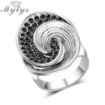 Mytys Brand New Design Marcasite Stone Ring for Women 2018 <b>Antique</b> Retro Design Ring Gift Noble Vintage <b>Jewelry</b> R2004