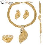 Dubai <b>jewelry</b> sets Gold color Mother's Day gift Fashion Necklace earring Nigeria Bridal Party Wedding African Beads <b>Accessories</b>
