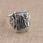 Deer king S925 Sterling Silver Ring <b>Jewelry</b> Wholesale Silver <b>Antique</b> Style Buddhism Vajra style