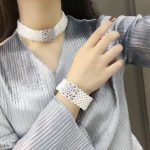 natural fresh water pearl choker necklace and bracelet <b>jewelry</b> set wedding necklace 925 <b>sterling</b> <b>silver</b> with cubic zircon lock