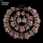Dvacaman Brand2016 Fashion Rhinestone Three <b>Jewelry</b> Set Bride Statement Wedding <b>Jewelry</b> Choker Collar <b>Accessory</b> Femme Bijoux C50
