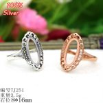 100% 925 Sterling-Silver-<b>Jewelry</b> Adjustable Oavl Ring Blank Fit 8*16MM Setting Gemstone Tray <b>Antique</b> Silver/Rose Gold Plate