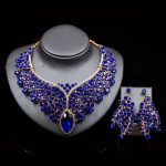 New Fashion Gold Color Big Pink Crystal Bridal <b>Jewelry</b> Set For Bride Necklace Earring Wedding Party <b>Accessories</b> Gift For Women