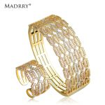 Madrry Square Bangle & Ring Big <b>Jewelry</b> Sets Classic Design AAA Zircon 3 Colors Metal Women Wedding <b>Accessories</b> Pulseira Joias