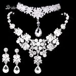 High Quality Bride Wedding <b>Accessories</b> crown necklace and earrings set Crystal Bridal Wedding <b>Jewelry</b> Sets Wholesale
