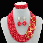 2016 weding <b>accessories</b> nigerian wedding african beads bridal pearl <b>jewelry</b> women crystal pearl <b>jewelry</b> set necklace earrings