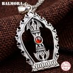 BALMORA 925 Sterling Silver Buddhistic Vajra Pendants for Men Gift <b>Accessories</b> Vintage Silver <b>Jewelry</b> Without a Chain SY12379