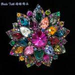 Hi-Q Flower Brooch 100% Austrian Crystals Broach Pins for Women <b>Jewelry</b> <b>Accessories</b> Wedding Bouquet Birthday Gifts 3882