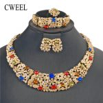 CWEEL African Beads <b>Jewelry</b> Set Imitation Crystal Fashion <b>Jewelry</b> Sets For Women Ethiopian Jewellery Wholesale <b>Accessories</b>