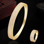 Fashion Women Love Bangles AAA Zircon <b>Jewelry</b> Sets Perfect Dubai Bangle Rings Wedding <b>Accessories</b> Sets African <b>Jewelry</b> Sets