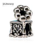 Authentic 925 Sterling Silver Bead <b>Antique</b> Phonograph Music Charms Fit Original Pandora Bracelets Women DIY Gift <b>Jewelry</b>