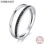 INBEAUT Vintage <b>Jewelry</b> Women 925 Sterling Silver Black&White Cubic Zircon Ring <b>Antique</b> Royal Princess Wedding Rings Anniversary