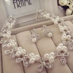 New bridal <b>accessories</b> necklace & earrings sets wedding dress <b>accessories</b> pearl necklace costume <b>jewelry</b> set
