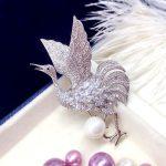 Micro Inlay Cubic Zirconia Brooches Crane Zircon Stone <b>Jewelry</b> for Women Rhinestone Corsage Pin Brooch <b>Accessories</b> Gift