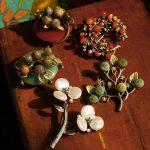 Bouquet <b>Antique</b> Leaves Lunar Moon Romantic Plum Blossom Broches Broach Broche Coat Party Dress Nice <b>Jewelry</b> Pins Shirt Hat
