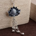 Deer King <b>jewelry</b> wholesale S925 Flower Pendant <b>ANTIQUE</b> STERLING SILVER CHAIN tassel six words of new technology