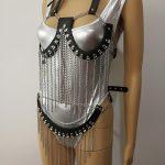 New Fashion Leather Style WRB939 Leather Harness Bondage Beach Bra Chain Collar Goth Choker Necklace <b>Jewelry</b> <b>Accessories</b>