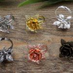 100pcs 20mm Flower ring blank with Cameo Tray,<b>Antique</b> Bronze/Gold/Silver Ring setting,Handmade DIY Zakka <b>jewelry</b> Finding