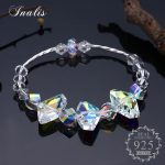 INALIS Authentic 925 Sterling Silver Clear Crystal Bracelets for Women Elegant <b>Accessories</b> Romantic Fine <b>Jewelry</b> Gift