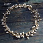 SINZRY <b>jewelry</b> <b>accessory</b> gold color copper alloy rice shape pearl 142cm long necklaces elegant lady party costume <b>jewelry</b>