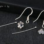 Sterling Silver 925 Women Drop Hook Earrings Vintage <b>Art</b> <b>Deco</b> Semi Mount for Pearl or Round Bead DIY Fine <b>Jewelry</b>