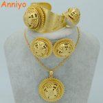 Anniyo Big Ethiopian <b>Jewelry</b> Sets Gold Color Habesha Wedding Bridal Set <b>Jewelry</b> Eritrea Nation <b>Accessories</b> #006802