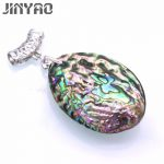 JINYAO Vintage Natural Mother of Pearl Shell Pendant <b>Antique</b> Gold Color Abalone Shell Pendants Charms <b>Jewelry</b> F10-3