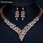 ThreeGraces Brand Marquise Cut Dubai Gold Color CZ Stone Big Engagement Wedding Costume <b>Jewelry</b> Set For Women <b>Accessories</b> JS261