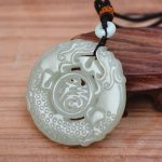 (Certificate) Natural white Hetian Nephrite Stone Hand Carved <b>Antique</b> dragon Pendant Necklace Gift for Women Men Jades <b>Jewelry</b>