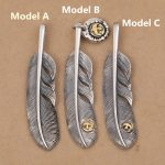 Solid Real 925 Sterling Silver Feather Charms Pendant DIY Trinket Vintage Indian Style Eagle Silver 925 Mens <b>Jewelry</b> <b>Accessory</b>