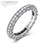 Solid Silver Sterling 925 Rings for Women Men Vintage Style Full Cubic Zirconia Ring <b>Antique</b> Silver <b>Jewelry</b> Bijoux Free Shipping