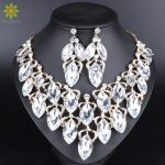 Fashion Indian Jewellery Crystal Necklace Earrings Bridal <b>Jewelry</b> Sets For Brides Party Wedding Costume <b>Accessories</b> Decoration